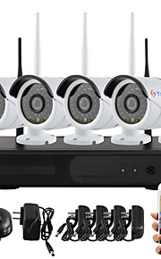 yanse® plug and play draadloze nvr kit p2p 960p hd outdoor / indoor ir nachtzicht beveiliging ip camera wifi CCTV-systeem