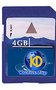 kudos gps map carta, con scheda SD standard di 4gb
