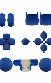 udskiftning controller tilfælde monteringssæt indstillet til ps3 controller gul / blå / grøn