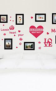 Wall Stickers Wall Decals, Romantic Love Heart M&W PVC Wall Sticker