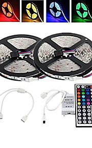 10m 300x2835 étanches rgb cms LED lumière de bande et de télécommande 44key and1bin2 ligne de connexion (DC12V)