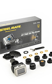 steelmate diy TPMS tp-79 bandenspanningscontrolesysteem lcd sigarettenplug omstelling vast met bar unit
