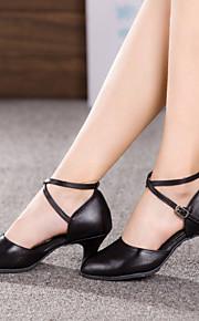 Sapatos de Dança(Preto / Vermelho / Prateado) -Feminino-Não Personalizável-Dança do Ventre / Latina / Tênis de Dança / Moderna / Salsa /