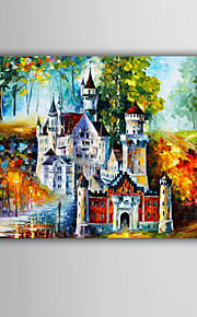 Hand-Painted Abstract / Famous / Abstract Landscape Modern / European Style Oil Painting , Canvas One Panel