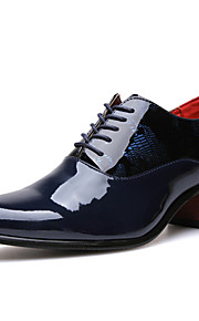 Men's Shoes Casual Leather Oxfords Black / Blue