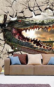 아트 데코 벽지 콘템포라리 벽 취재,기타 Large Mural Wallpaper Crocodile