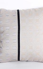 Jacquard Pillow Case with Geometric Design