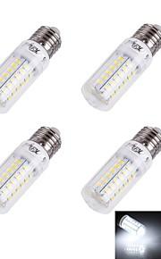 Ampoules Maïs LED Décorative Blanc Chaud / Blanc Froid YouOKLight 4 pièces T E26/E27 4W 56/pcs SMD 5730 240 lm AC 100-240 V