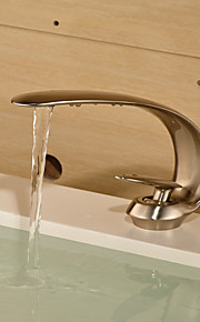 Centersat Enkelt Håndtak Et Hull in Fersken Bathroom sink tappekran