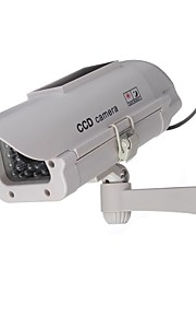 outdoor / indoor zonne-energie cctv dummy bewakingscamera nep-cam met flits geleid, dummy ip camera outdoor