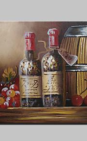 mini håndmalte druevin abstrakt moderne oljemaleri på lerret med ramme for spisesal innredning 20x25cm
