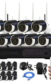 yanse® plug and play 8-kanaals draadloze nvr kit p2p 960p HD IR nachtzicht beveiliging ip camera wifi CCTV-systeem