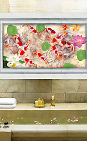 חיות / 3D מדבקות קיר מדבקות קיר תלת מימד,PVC 60*90cm