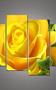 Botanisch Canvas Afdrukken Vier panelen Klaar te hangen,Horizontaal