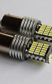 1156/1157 / T15 / T20 4014-45smd auto luce luce del freno posteriore sua volta retromarcia lato della lampada della luce bianca marcatore