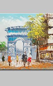 20x25cmをハングアップするために、キャンバス1つのパネル上のミニサイズ手描きの凱旋門の風景現代の油絵準備