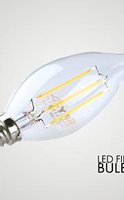 3W E14 LED-lysestakepærer B 4 COB ≥300 lm Varm hvit Dekorativ AC 220-240 V 1 stk.