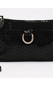 Women Cowhide Casual Clutch Carry-on Bag-Black