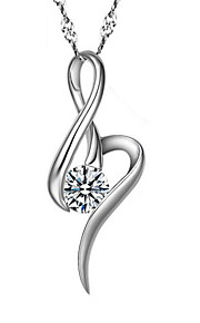 Time Limited White Crystal Real Silver Pendant Necklaces With Round Rhinestone Stone Women Plant Jewelry