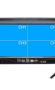 "7 inch quad-TFT-LCD auto achteruitkijkspiegel monitor met ""u"" stand omgekeerde back-up camera van hoge kwaliteit"