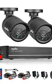sannce® 4-kanals 720p AHD vedio dvr cctv hjem overvågning sikkerhed kamera system med 1TB hdd