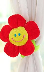Vorhang Klammern Klippschnalle flexible Sperrfristen Halter Vorhang tieback niedlichen Cartoon-Blume (gelegentliche Farbe)