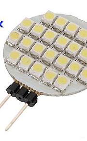 G4 0.9W 24 SMD 1210 llevó la lámpara circular blanca (12 V CC, 10 piezas)