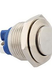 16mm 12v kortstondige drukknop metalen schakelaar voor auto zilver