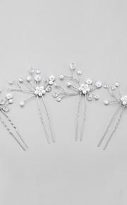 Dame / Blomsterpige Krystall / Legering / Imitert Perle Headpiece Bryllup / Spesiell Leilighet Hårspenne Bryllup / Spesiell Leilighet4
