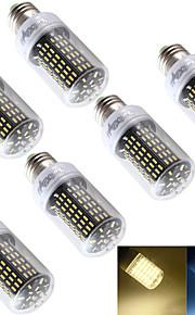 Ampoules Maïs LED Décorative Blanc Chaud / Blanc Froid YouOKLight 6 pièces T E26/E27 6W 138 SMD 4014 400 lm AC 100-240 / AC 110-130 V