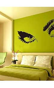 8024 Hepburns Eyes Vinyl Wall Decals Wall Sticker Waterproof Windows Home Decorations 60*115cm