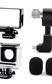 1 Set GoPro välineet sileä kehys / Suojakotelo / Mikrofoni Varten Gopro Hero 3 / Gopro Hero 3+ / GoPro Hero 4All-in-one / Mukava /