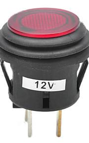 jtron 12v 20a auto drukknop vergrendeling schakelaar met rood / blauwe LED-indicator