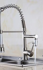 Integroitu Yksi kahva yksi reikä with Nickel Brushed Kitchen Faucet