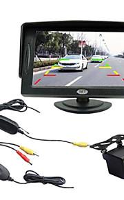 4,3 tommer TFT-LCD bil ede overvåge med tv