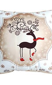 3D Design Print Merry Christmas Deer Decorative Throw Pillow Case Cushion Cover for Sofa Home Decor Soft Material