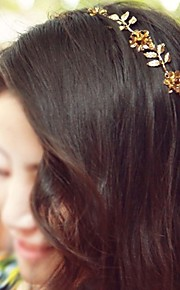 Fashion Head Band Metal Flower And Leaves Decoration
