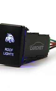 carchet toyota drukvlakschakelaar laser backlit daklichten blauwe led licht aan-uit schakelaar 3a 12v