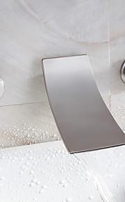 водопад ванной комнате раковина кран широко распространенный современный дизайн кран (никель отделка)