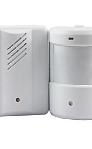 ringeklokke alarm klokkespill doorbell trådløs infrarød skjerm sensor sensitiv detektor velkommen oppføring bjelle musikk
