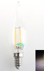 4W E14 LED-lysestakepærer C35 4 COB 380 lm Naturlig hvit Dekorativ AC 220-240 V 1 stk.