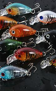 "Manivela 8 pc pcs,4g/pc g/16 Onza,4.5cm/pc mm/1-3/4"" pulgada Colores Aleatorios PlásticoPesca de baitcasting / Pesca de agua dulce /"