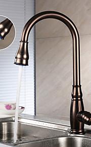Integroitu Yksi kahva yksi reikä with Oil-rubbed Bronze Kitchen Faucet