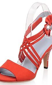 Chaussures Femme-Mariage / Habillé / Soirée & Evénement-Bleu / Rose / Orange-Talon Aiguille-Talons / Bout Ouvert / Bride de Cheville-