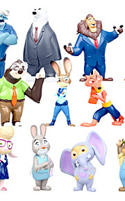 mini 12 kpl sisustustavarat nukke nukke anime perifeerinen kaupungin judy zootopia hullu eläimet