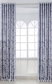 Deux Panneaux Rustique Floral / Botanique Comme image Salle de séjour Viscose Panneau Rideaux rideaux