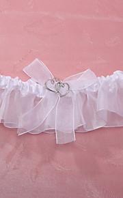 Garter Polyester Sweetheart White