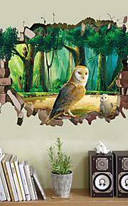 Eläimet / Muoti / 3D Wall Tarrat 3D-seinätarrat,PVC 50*70cm(19.7*27.6 inch)