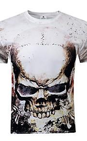 Masculino Camiseta Casual Estampado Poliéster Manga Curta Masculino
