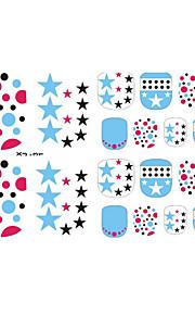 vackra tånaglar glitter 3d spik klistermärken